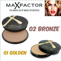 Max Factor Bronzing Bronzer Powder Compact ~ 01 Golden & 02 Bronze