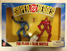 1999 HASBRO DC SUPER HEROES THE FLASH BLUE BEETLE THE ATOM FIGURE BOXED SET D30