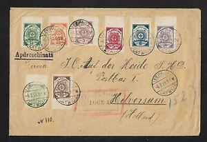 LATVIA LEEPAJA TO HOLLAND MULTIFRANKED COVER 1919