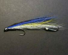 Fly Fishing Streamers Tandem Trolling Bait Imitation HairWing Blue Back Smelt