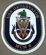 US Navy Decal / Sticker / USS Devastator MCM - 6 / Large Size Decal