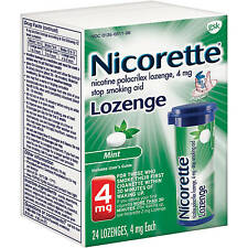 Nicorette Stop Smoking Aid Nicotine Lozenge, Mint Flavor, 4mg, 24 Pieces