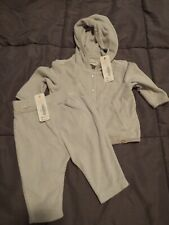 NWT Gymboree Baby Infant Unisex Light Gray Jacket Pants Set Lot Size 0-3 Months