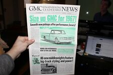 Vintage 1967 GMC Engineering Leadership News Paper Brochure Pick Up Truck