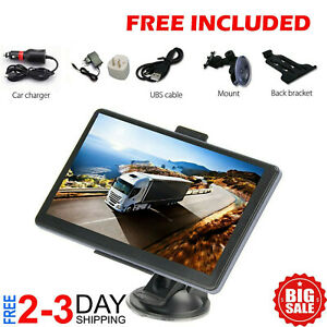 7 inch GPS Commercial Driver Big Rig Accessories Navigation System Trucker Semi