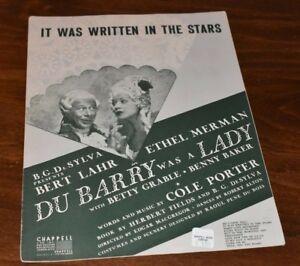 """DUBARRY WAS A LADY Broadway """"It was Written in the Stars"""" Ethel Merman Bert Lahr"""