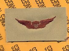 US Army Pilot Aviation Flight desert DCU badge cloth patch