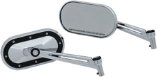Kuryakyn Chrome Heavy Industry Mirrors w/Black Accents - 1765