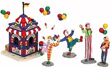 Lemax 63563 CARNIVAL TICKET BOOTH & FIGURINES Christmas Village Table Accent I