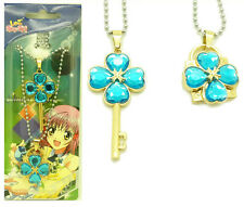 New Anime Shugo Chara Key+Lock Necklace Cosplay Pendant 2Pcs/Set Blue
