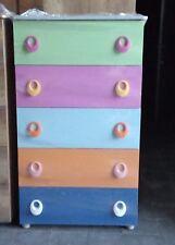 Furniture Settimino Cm 45 Mobile Con Cassetti Colorati In Melaminico Per Cameretta