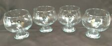 Set of 4 Heavy Bottom Bar Glasses ~Made in Turkey~ Brandy Glasses *BEAUTIFUL*