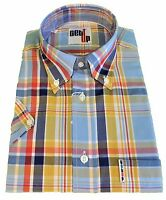 Mens Blue Bell Check Full Fit Retro Mod Short Sleeved Shirts