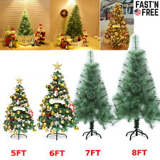5/6/7/8Ft Tabletop Artificial Small Mini Christmas Tree with Led Light &Ornament