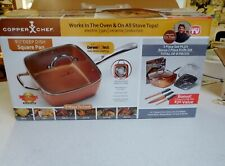 "Copper Chef 9 1/2"" Deep Dish Square Pan/Lid + Accessories"
