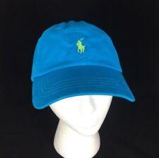 Polo Ralph Lauren medium blue cotton baseball cap adjustable strap back New tags