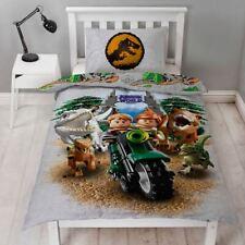 LEGO JURASSIC WORLD DINOSAUR SINGLE DUVET COVER SET KIDS - 2 IN 1 DESIGN