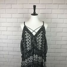 Xhilaration women's plus size dress Black And White Patterned  Size 4XL Cute NWT