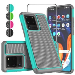 For Samsung Galaxy S20 FE/S20/S20+/S20 Ultra 5G SIlicone Case + Screen protector