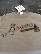 New majestic medium Mississippi Braves/Atlanta Braves T-shirt w/ signatures