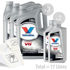 Car Engine Oil Service Kit / Pack 17 LITRES Valvoline VR1 Racing 10w-60 17L