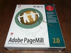 Adobe PageMill 2.0 für MAC deutsche Version, Rarität