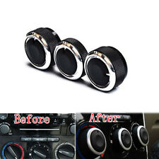 3Pcs Car Heat Control Air Conditioning A/C Knobs Switch Button For 2014 3 Axela