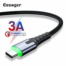LED Typ C Kabel Schnell Lade USB C Kabel für Samsung Galaxy S9 S8, LG, Huawei