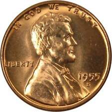 1955 S Lincoln Wheat Cent BU Uncirculated Mint State Bronze Penny 1c Coin
