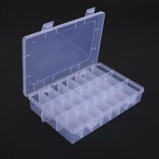 24 Grids Plastic Jewelry Box Organizer Storage Container with Adjustable Divider