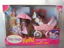 New Barbie Kelly Tiny Steps AA with Stroller and Accessories