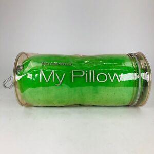 """Genuine Brookstone My Pillow Green 08227 12"""" Lumbar Round Roll Tube Memory Foam"""