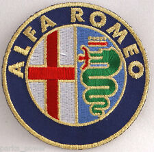 Alfa Romeo Patch, Iron-On, Sew On, Italian Cars, Embroidered, 4""