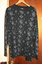 Avirex Crest Swords Thermal Men's Black Long Sleeve Shirt Size XXL 2XL