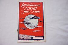 More details for 1929 international aerial timetable airline schedule imperial airways