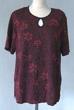 Geblümte taillenlange Damenblusen, - tops & -shirts ohne Kragen