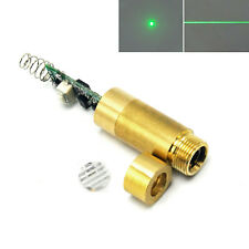 2in1 Dot Line 532nm 20mW Green Laser Diode Module Focus Brass 3-5V Driver Switch