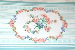 Vintage Flower Rose Blue White Stripe Wallpaper Border Cottage Style 965874 NEW