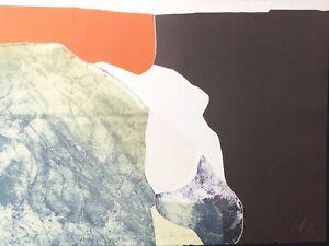 "Gilou Brillant ""Fleur Blanchel"" 1977 Original Etching S/N Artwork"