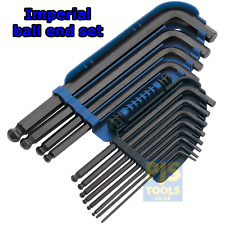 Draper 08381 1/16 - 3/8 12pc AF Imperial Ball End Llave Allen Socket Llave Set