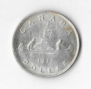 1937 Canadian Silver Dollar (luster)
