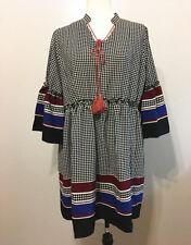 New Women Dress Half Sleeve Vintage Loose Casual Dress Summer Beach Mini Dress