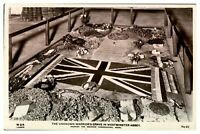 Antique WW1 military RPPC postcard The Unknown Warriors Grave Westminster Abbey