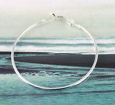 50 Pcs Silver plate earring hoop 70mm #19973