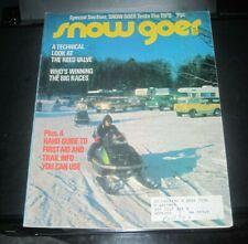 Vintage Snow Goer magazine 1973 polaris yamaha