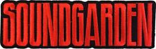 "Soundgarden Logo Iron On Patch 1.6"" x 4.8"" Licensed by C&D Free Ship P-4589"