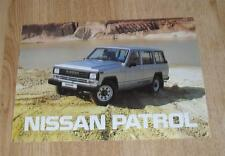 NISSAN PATROL 4X4 brochure 1987-Hardtop et Break-Diesel & Essence