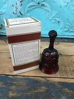 Avon 1876 Cape Cod Ruby Red Glass HOSTESS BELL W/Original Box & Packaging