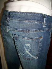 Pantalon jeans taille basse stretch BERSHKA W28 38FR Bas évasé bootcut VH1