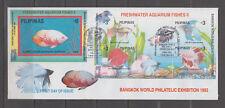 Philippine Stamps 1993 Aquarium Fishes Ovpt Bangkok World Philatelic Exhibition